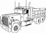 Dump Coloring Truck Mack Sheets Printable Construction Pickup Dumptruck Semi Dumper Kleurplaat Vrachtwagens Trucks Vrachtwagen Inspiration Wecoloringpage Fire Adults Dodge sketch template