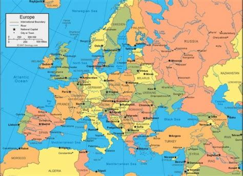 Carte Capitales Europe De L Est by Carte De L Europe De L Est Avec Les Capitales