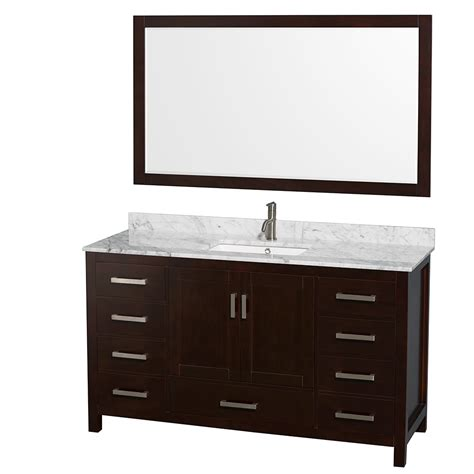 sheffield 60 quot single bathroom vanity by wyndham collection
