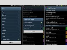 How to Change LED Notification Color in Samsung Galaxy S3