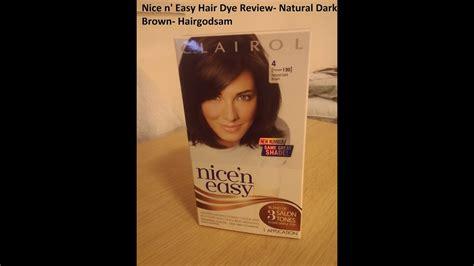 nicen easy hair dye review natural dark brown youtube
