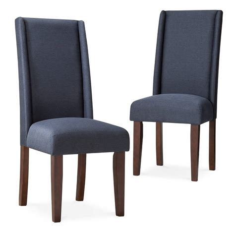 Charlie Modern Wingback Dining Chair  Yellow (set Of 2