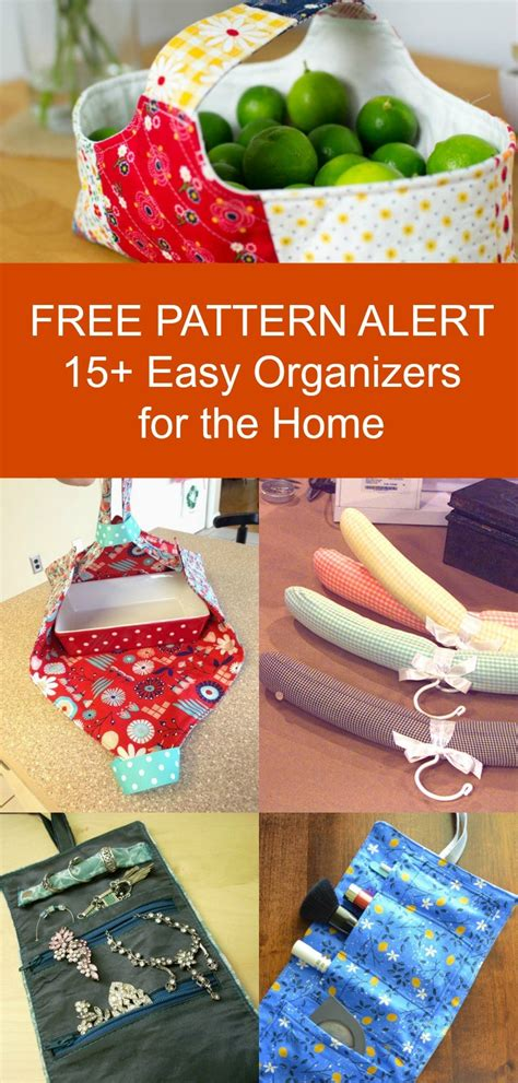 FREE PATTERN ALERT: 15+ Organizers for the home | On the