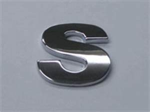style 6 smallest letters 75quot small chrome letters s With small chrome letters