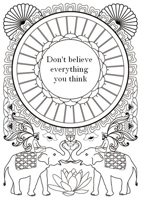 art therapy coloring page zen quotes dont