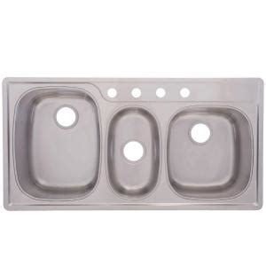 43 x 22 kitchen sink frankeusa top mount stainless steel 43x22x9 5 4 7359