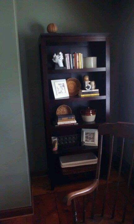 bookcase decor shelves paint by behr witch hazel