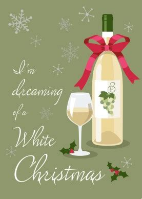 printable white wine christmas card template