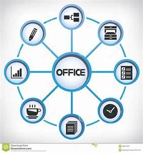 Office Network Diagram Stock Illustration  Illustration Of