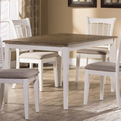 Furniture Kitchen Tables by Hillsdale Bayberry White Casual Rectangular Dining Table