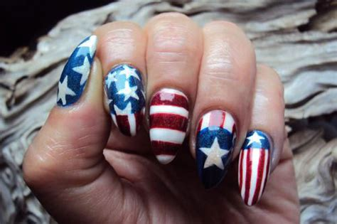 American Flag Nail Art Designs Usefulresults