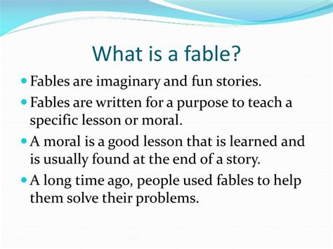 Ppt  Fables Powerpoint Presentation  Id6222481