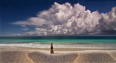 Yoga Meditation Beach Nature Landscape Summer Mexico