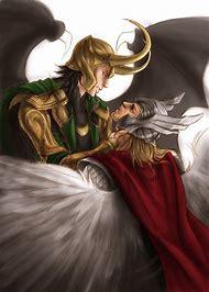 Thor and Loki Slash Art
