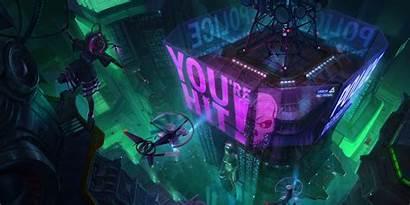 Cyberpunk Hologram 4k Widescreen