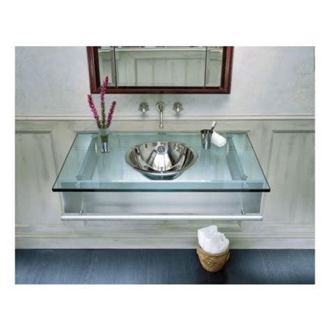 Robern Compact Vanity by Robern S Floating Glass Vanity Is Simple And Has