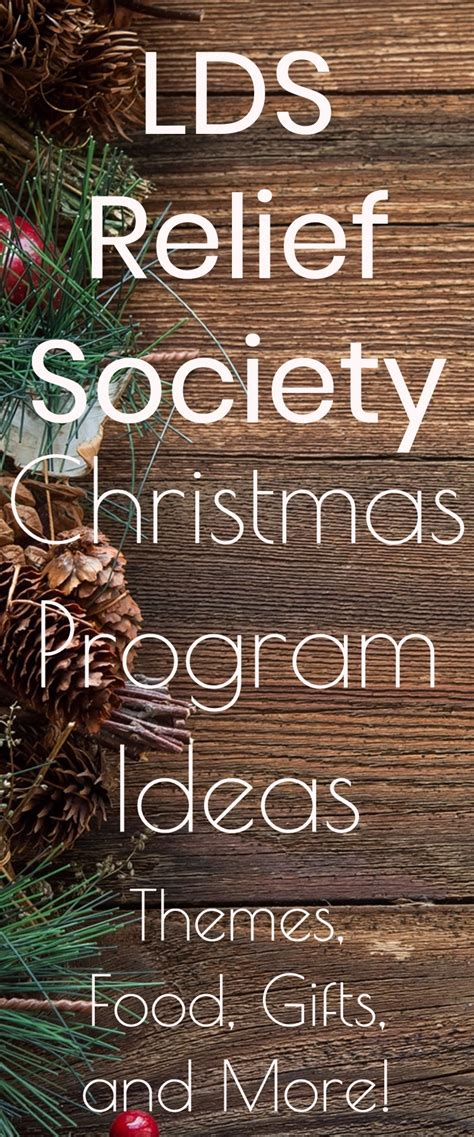 lds christmas program relief society program ideas themes dinner ideas and more