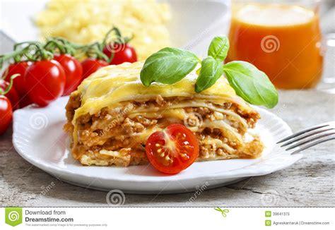 cuisine en italien lasagne plat italien traditionnel photo stock image