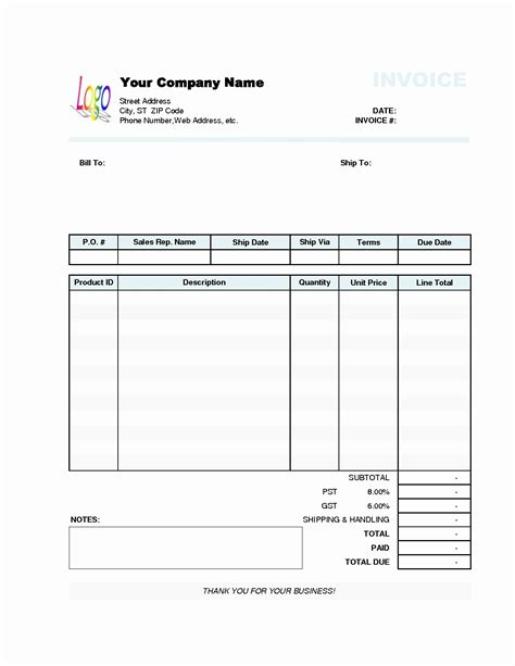 How To Create A New Invoice Template In Quickbooks by 50 Inspirational Free Invoice Template How To Make An
