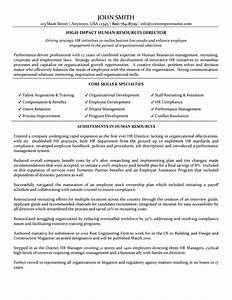 director of human resources resume With human resources resume sample