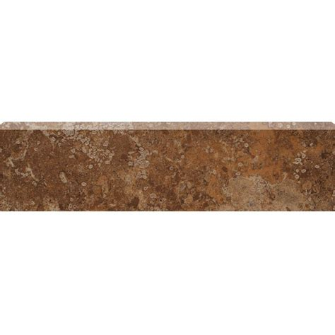 bullnose floor tile marazzi montagna belluno 3 in x 12 in porcelain bullnose floor and wall tile uf3v the home depot