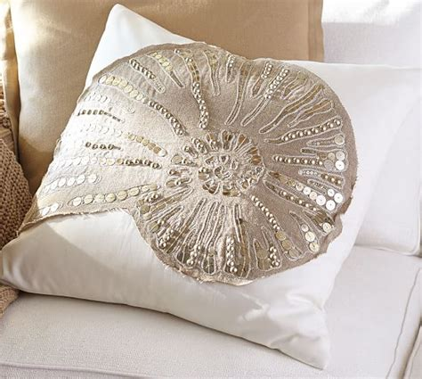 Embellished Beaded Pillow Covers Pottery Barn by Sequin Coastal Embroidered Pillow Covers Pottery Barn