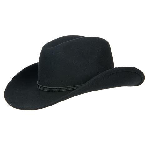 herrenhut aus wollfilz westernhuete cowboyhut mit schmaler