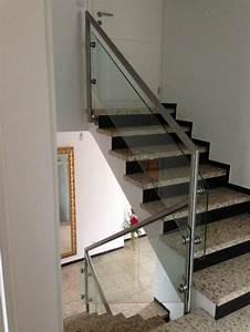 Treppengeländer Mit Glas : treppengel nder edelstahl roland berg f rth ~ Markanthonyermac.com Haus und Dekorationen