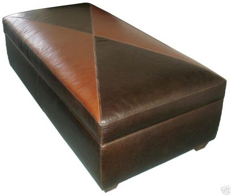 Leather Coffee Table With Storage by Contemporary Genuine Leather Storage Bench Coffee Table