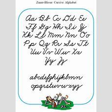 Printable Cursive Alphabets  Printable Cursive Handwriting