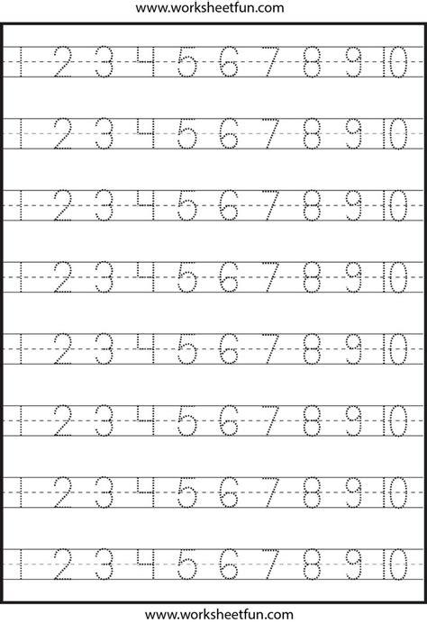 number tracing   worksheet math pinterest