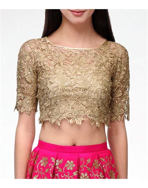 crop top blouse lace gold crop top blouses clothing my style