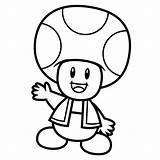 Toad Mario Coloring sketch template