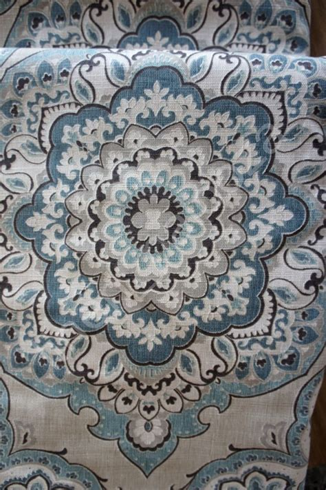Blue Gray Valance by New Envogue Blue Gray Taupe Moroccan Floral Window Curtain