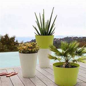 Pot De Fleur Interieur Design : pot de fleur design tokyo 40cm grosfillex ~ Premium-room.com Idées de Décoration