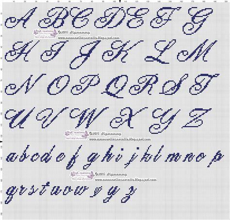 Lettere Da Ricamare by Ricamare Lettere Alfabeto 28 Images Alfabeto Da