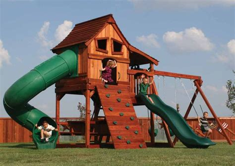 build   wooden playset plans  woodworking projects plans