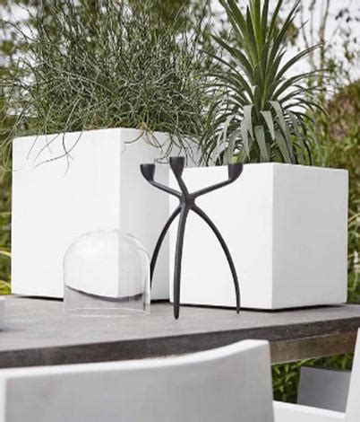 white square planter outdoor planters  pots