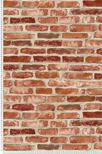Mur Effet Brique : papier peint brique rouge 3d wall de lut ce r f ltc td30201 brique rouge briques et 3d ~ Melissatoandfro.com Idées de Décoration