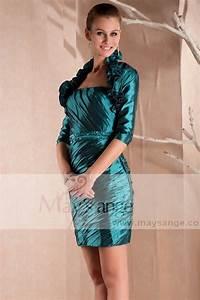 robe de soiree courte avec bolero With robe de cocktail combiné avec perle pandora bleu