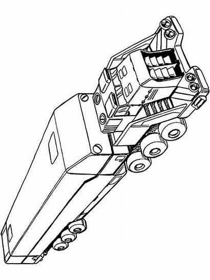 Coloring Semi Truck Boys Ausmalbilder Lastwagen Printable