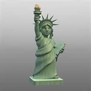Statue of Liberty Cartoon Characters