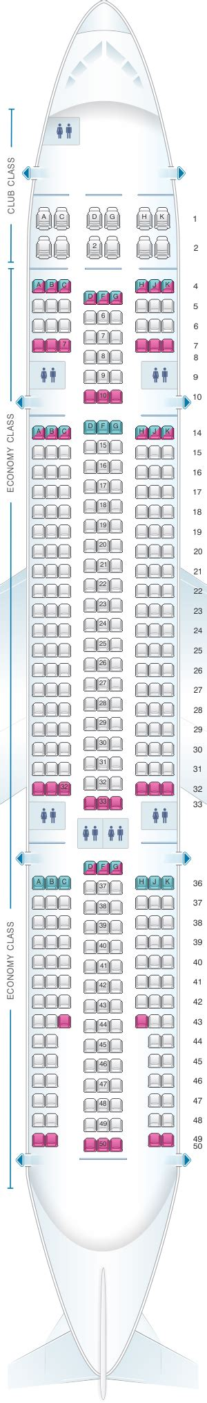 seat map air transat airbus a330 200 seatmaestro