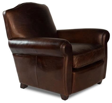arm chair vintage cigar wood leather transitional