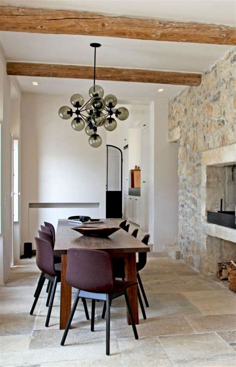 cuisine ouverte sur salle à manger et salon la tendance poutres apparentes 41 bons exemples
