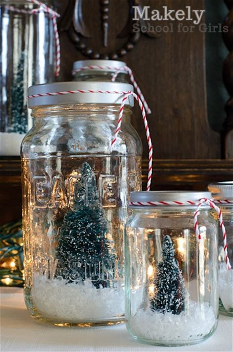 diy christmas tree snow globes handspire