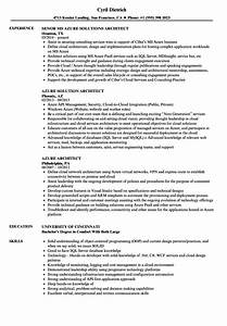 azure architect resume samples velvet jobs With azure cloud resume