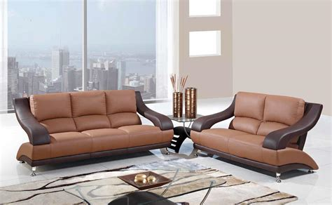 Contemporary Leather Sofa Sets by Paras Modern U982leather Sofa Set Brown 3pc Sofa