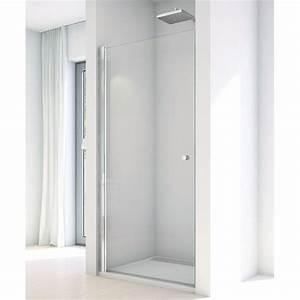paroi de douche en verre montee sur profiles pivots With ronal porte douche