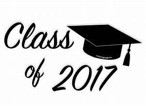 Black Class of 2017 Graduation Clip Art | Coloring Page